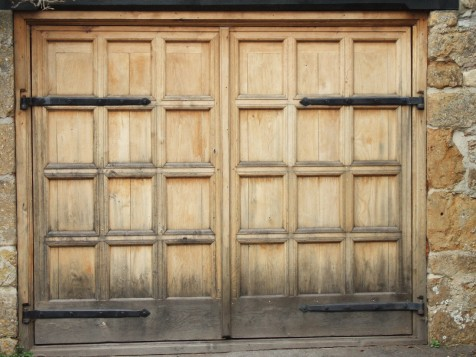 Oak Garage Door