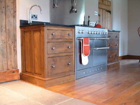 Free standing hardwood kitchens