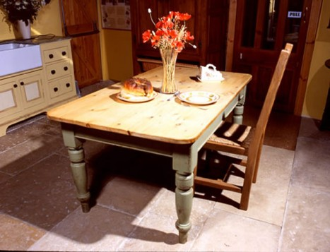 Painted Oak kitchen table